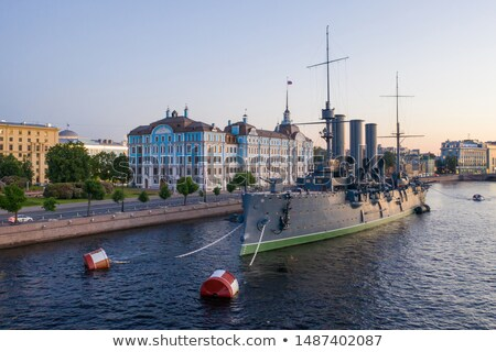 cruiser aurora in st petersburg russia stock photo © antartis