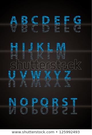 Vektor gyémánt ábécé tele tükröződések terv Stock fotó © vitek38
