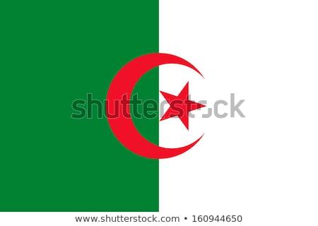 Bandeira Argélia sombra branco fundo preto Foto stock © claudiodivizia