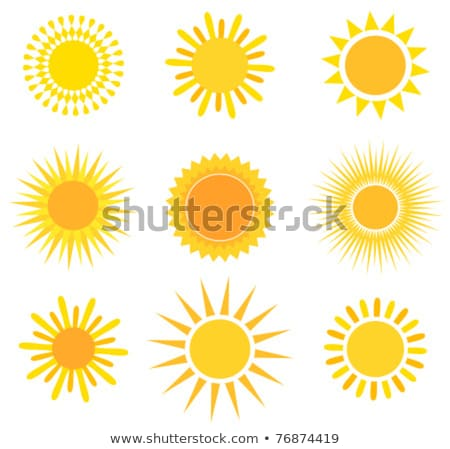 Smiling Hot Yellow Sun With Rays Stock photo © Lightsource