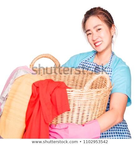 yorgun · kadın · temizlik · önlük - stok fotoğraf © wavebreak_media