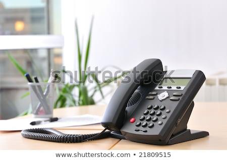 Exécutif voip bureau téléphone traditionnel casque Photo stock © ifeelstock