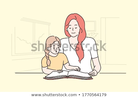 mother and daughter reading together stock photo © wavebreak_media