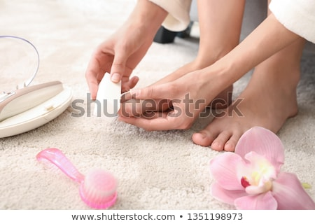 Nail file foot. Stock photo © kttpngart
