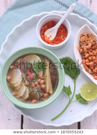 Friss retek kész eszik felszolgált tányér Stock fotó © Len44ik