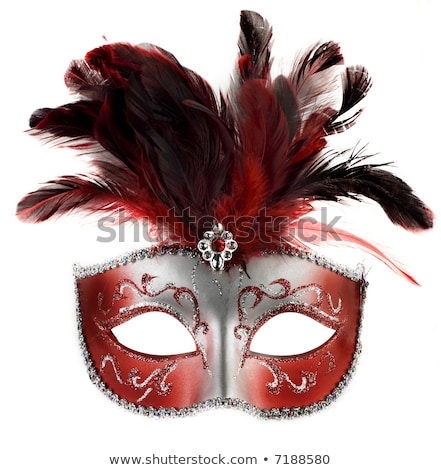 白 赤 ベニスの マスク 羽毛 ヴェネツィア ストックフォト © billperry