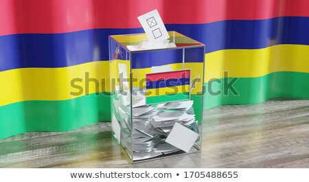 Stock photo: Ballot box Mauritius