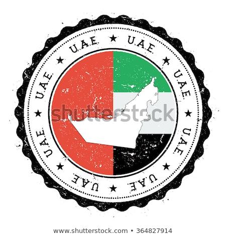 Vignette Émirats arabes unis pavillon eps10 étoiles bouton Photo stock © SolanD