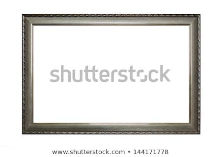 çerçeve yalıtılmış beyaz ahşap dizayn arka plan Stok fotoğraf © luckyraccoon