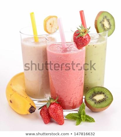 frutas · fondo · desayuno · plátano · blanco - foto stock © m-studio