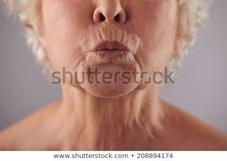 ajkak · fiatal · közelkép · izolált · fehér · szépség - stock fotó © arenacreative