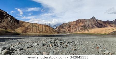 Landscape of mountain highway in Tibet Stock photo © bbbar