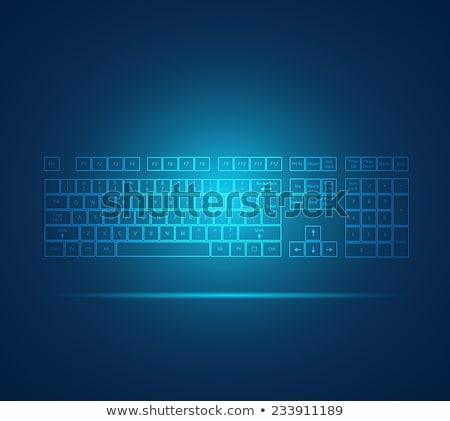 teclado · iconos · tecnología · trabajo - foto stock © ra2studio