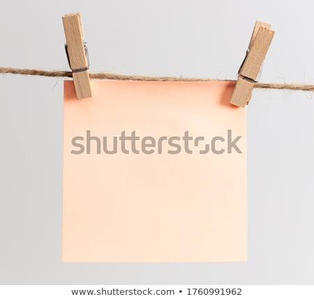 Boş kart genç işadamı yalıtılmış beyaz Stok fotoğraf © zittto