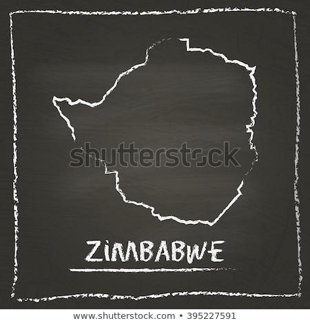 地図 ジンバブエ 黒板 図面 ストックフォト © vepar5