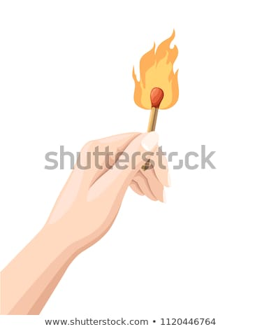 Сток-фото: Hand Hold Holding Lighter On White Background