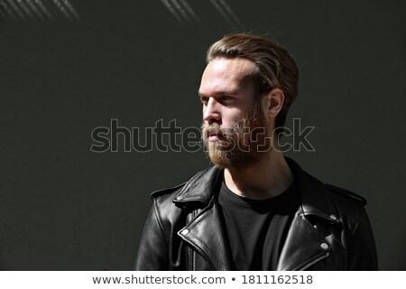Foto stock: Artístico · pose · dramático · moda · moço · barba