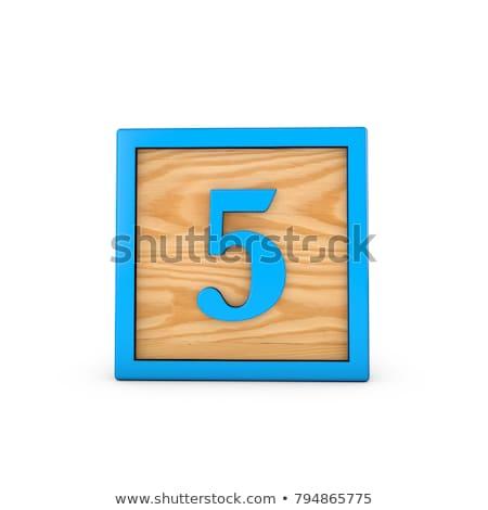 houten · speelgoed · aantal · wielen · geïsoleerd · witte · school - stockfoto © tashatuvango