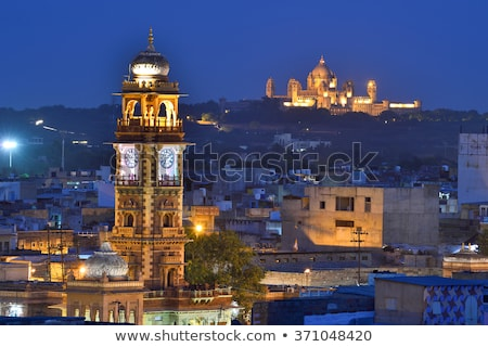 Saat kule İngilizce Asya eski Stok fotoğraf © faabi