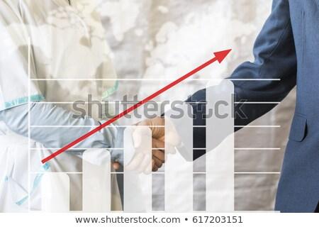 Wzrostu wykres ikona cyfrowe niebieski ciemne Zdjęcia stock © tashatuvango