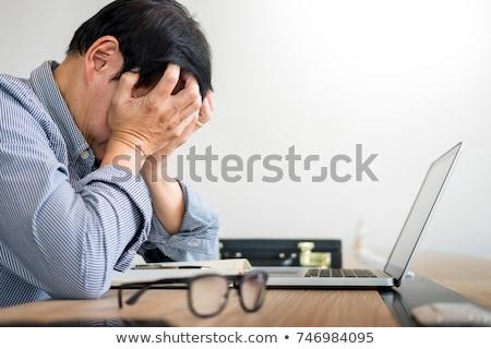 Stresujące pracy kobieta biuro tułowia inny Zdjęcia stock © Kzenon