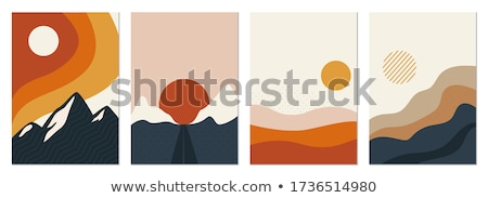 sunrise in desert - vintage retro style Stock photo © Mikko