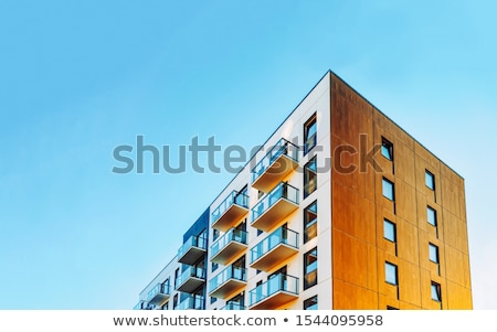 front view of modern residential building close up stock photo © imaster