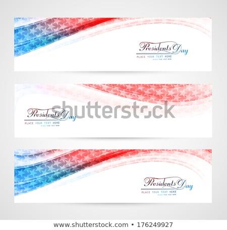 Stany Zjednoczone Ameryki prezydent dzień piękna fali Zdjęcia stock © bharat