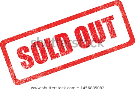 Stock photo: Sold Out On Red Rubber Stamp