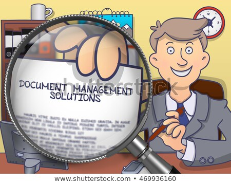 Contenu gestion loupe vieux papier rouge vertical Photo stock © tashatuvango
