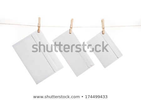Three Envelopes on clothes rope Stock photo © stevanovicigor