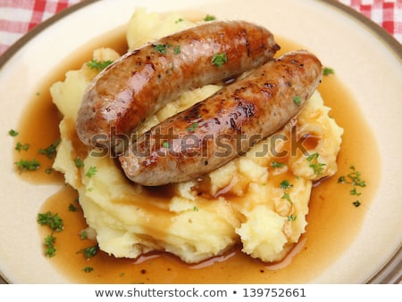 sausage and mashed potato Stock photo © M-studio