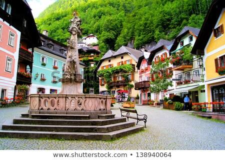 Ver aldeia Áustria agosto 2013 lago Foto stock © pixachi
