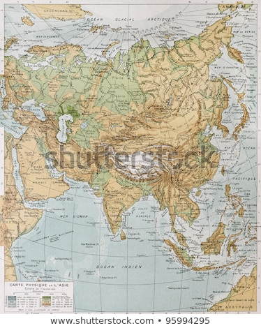 Siberia on a vintage map Stock photo © PixelsAway
