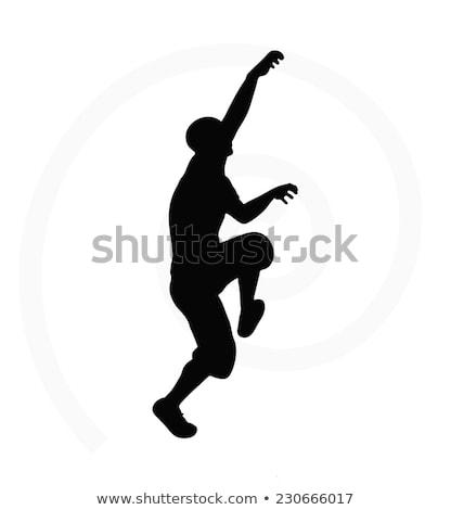 Illusztráció idős férfi sziluett izolált fehér Stock fotó © Istanbul2009