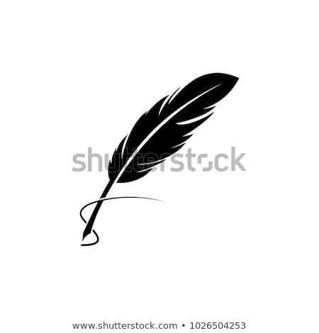 veer · handtekening · zwarte · witte · geschiedenis · object - stockfoto © aliaksandra