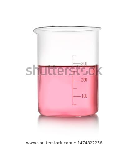 laboratory beakers with the coloured liquid Stock photo © konturvid