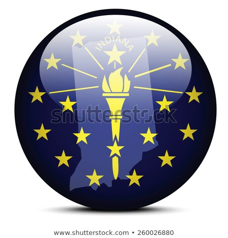 Térkép zászló gomb USA Indiana vektor Stock fotó © Istanbul2009