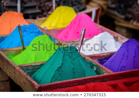 Colorful powders in Kathmandu Stock photo © dutourdumonde