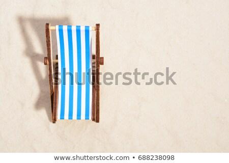 Widoku leżak na zewnątrz morza plaży molo Zdjęcia stock © w20er