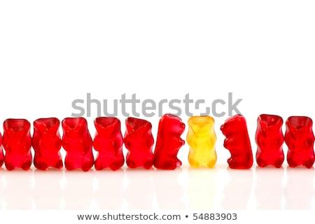 rząd · inny · czerwony · jeden · odizolowany - zdjęcia stock © peter_zijlstra