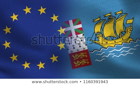 European Union and Saint Pierre and Miquelon Flags  Stock photo © Istanbul2009