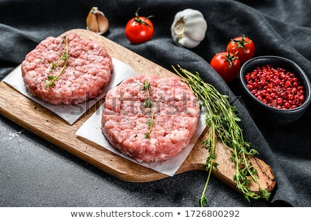 raw ground meat background Stock photo © jonnysek