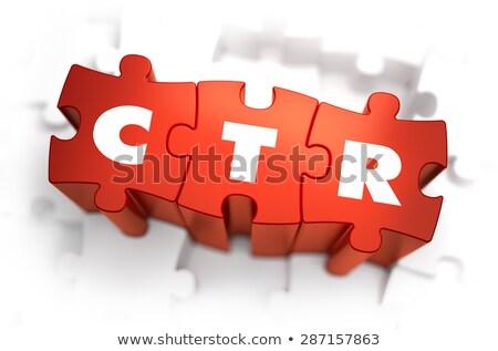 ctr   white word on red puzzles stock photo © tashatuvango