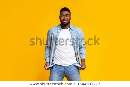 ビジネスマン · お金ない · ズボン · 孤立した · 白 · 手 - ストックフォト © fuzzbones0