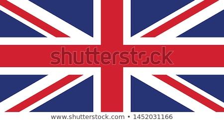 Groot-brittannië vlag rimpels Europa land Stockfoto © Supertrooper