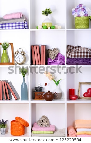 Wooden heart on shelf Stock photo © Sandralise
