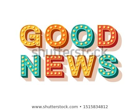 una · buena · noticia · dotación · buena · cielo · azul · éxito - foto stock © fuzzbones0