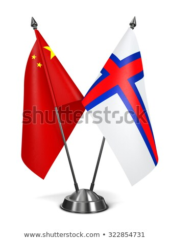 china and faroe islands   miniature flags stock photo © tashatuvango