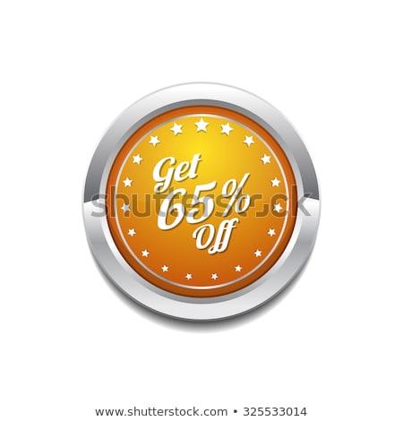 Get 65 Precent Off Yellow Vector Icon Button Stock photo © rizwanali3d